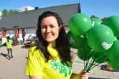 Karro delade ut ballonger
