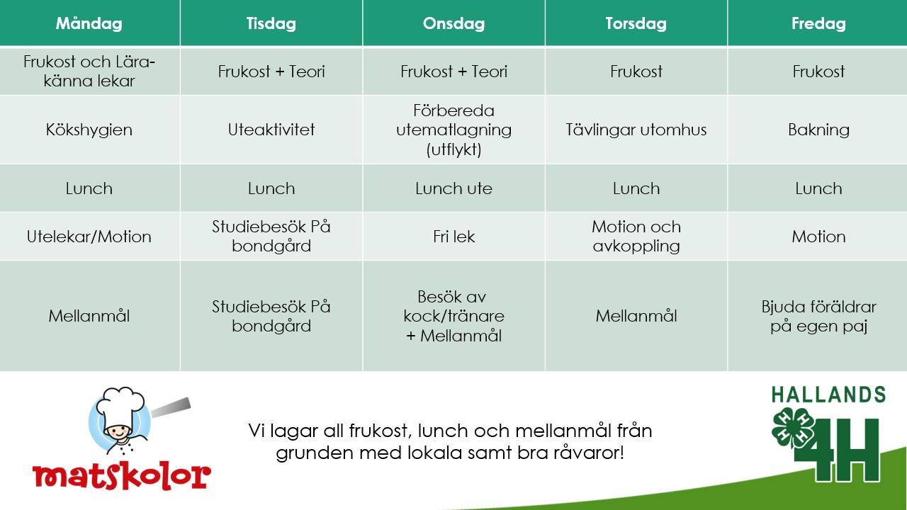 Matskola-schema