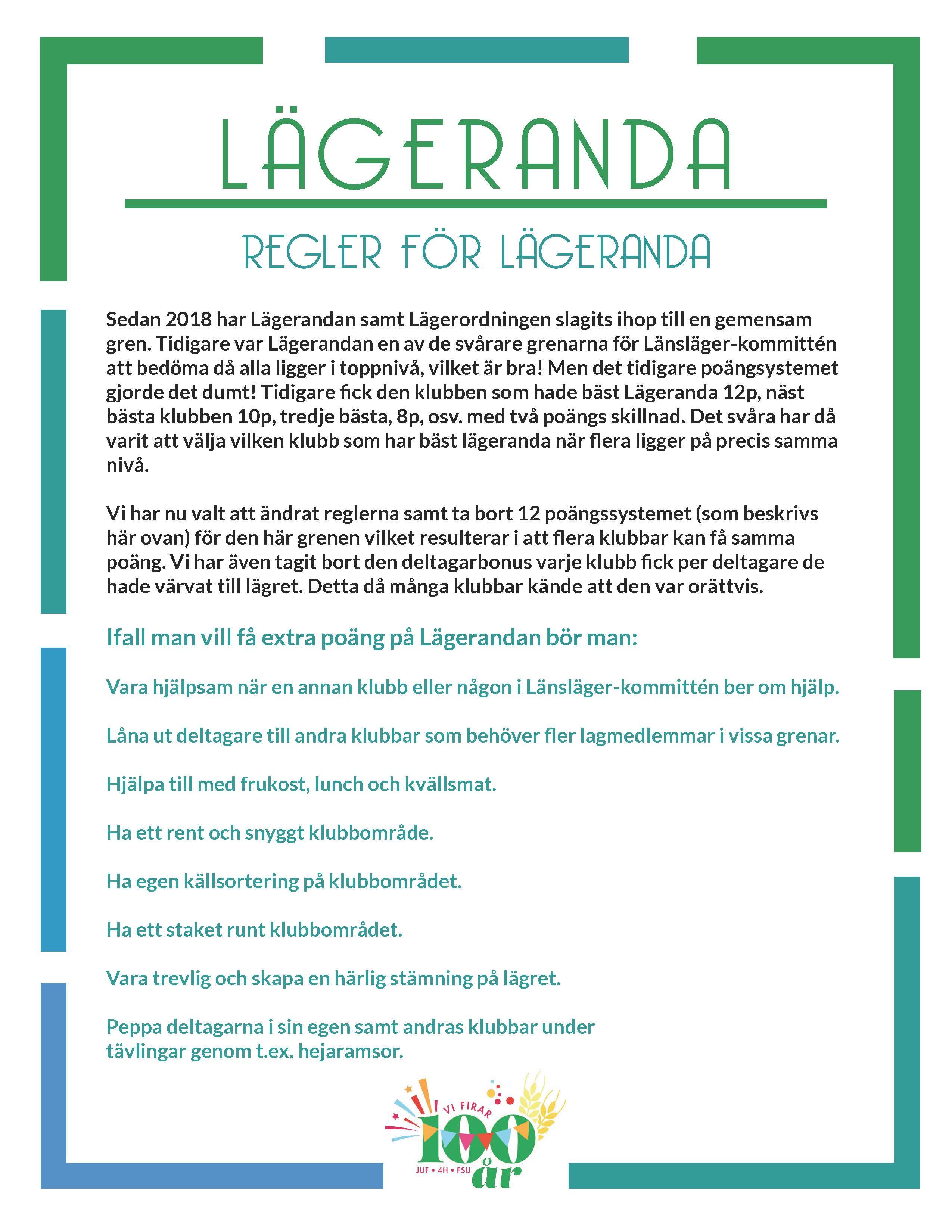 Lägeranda_Regler 2019