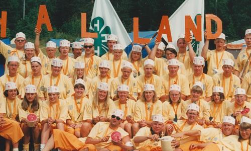 4H kom till  Sverige 1918 och har sedan dess utbildat barn och unga. Bilden är tagen 1991 på vårt läger i Särdal, Hamlstad. Temat för Hallands 4Hs medverkan på lägret var ost.