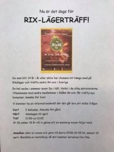 Rixlägerträff 2018