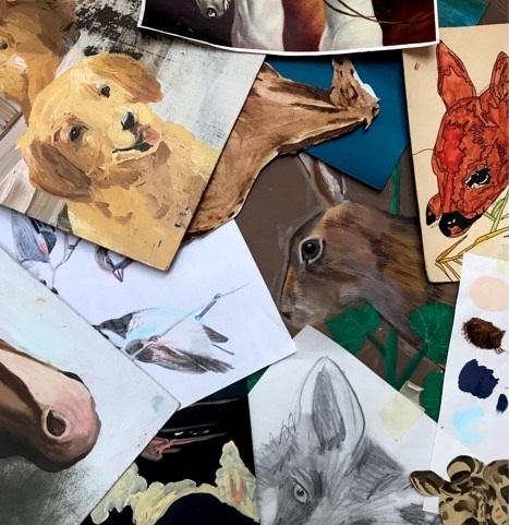 4h-workshop-konst-eggeby-gård-teckna-måla-djur-stockholm-2019-maj