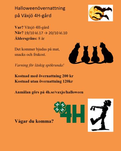 Halloween på Växjö 4h-gård