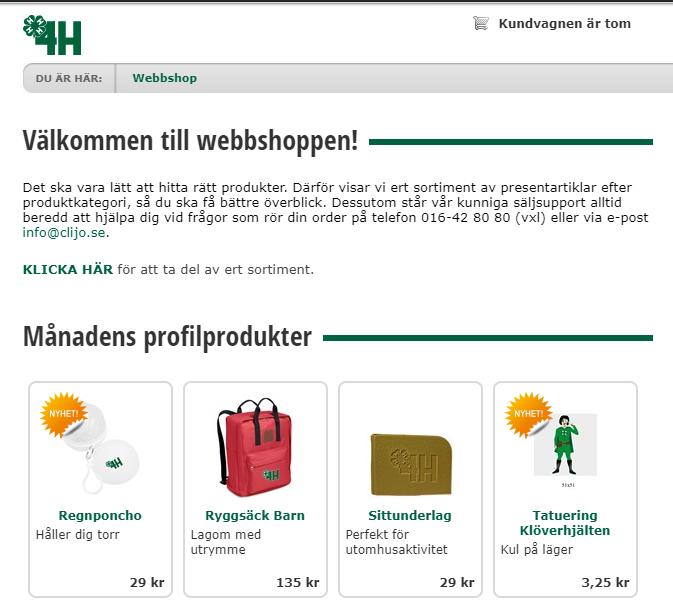 dafa2d02b9 I webshopen kan du hitta ett varierat utbud av profilmaterial. Där finns  allt från t-shirts, till reflexvästar och väskor. Klubbar, gårdar och  länsförbund ...